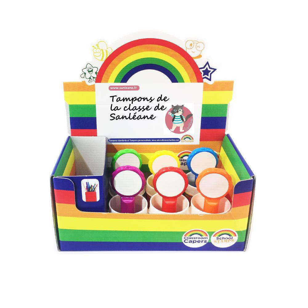 Tampons Enseignants | Coffret Assortiment - 6 Tampons de Le Cartable de Sanléane