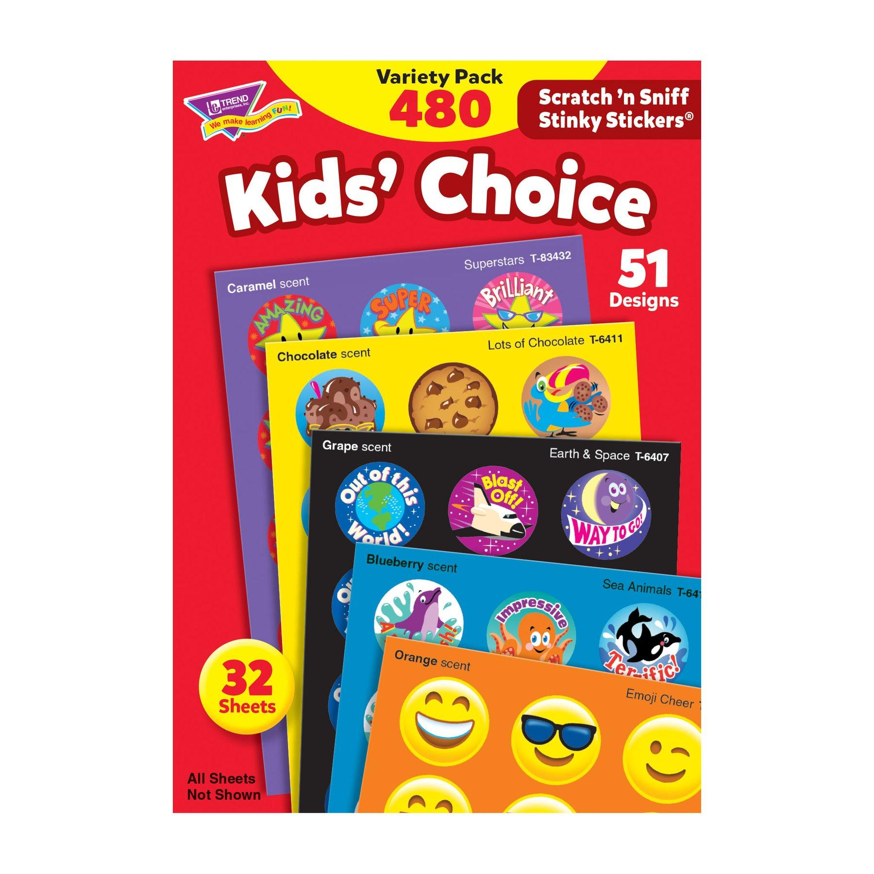 Stinky Stickers | Kid's Choice Stinky Stickers - Autocollants Récompense Parfumés Allemand x 480