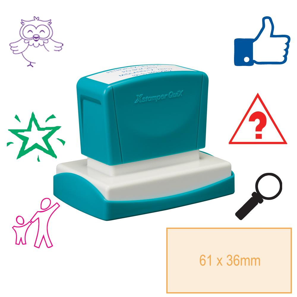 Tampon Personnalisé Grand | Tampon Auto-Encreur Personnalisé Rectangle - 61x36mm