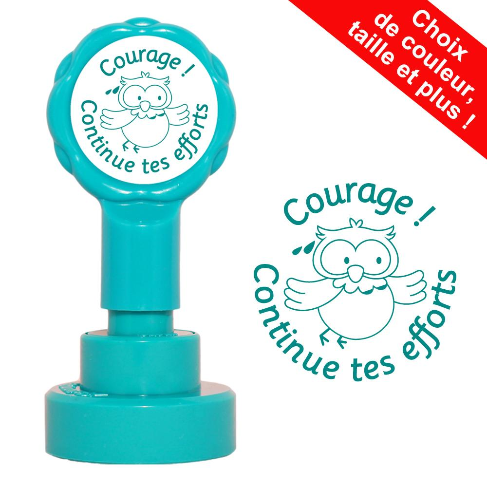 Tampons Auto-Encreurs | Courage ! Continue tes efforts Tampons Auto-Encreurs - 22mm