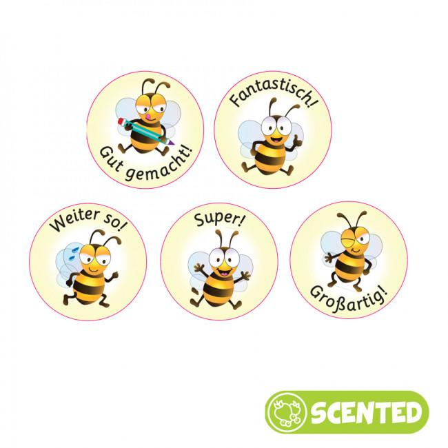 Autocollants Récompense | Stickers Parfumés Allemand, Bee Friends