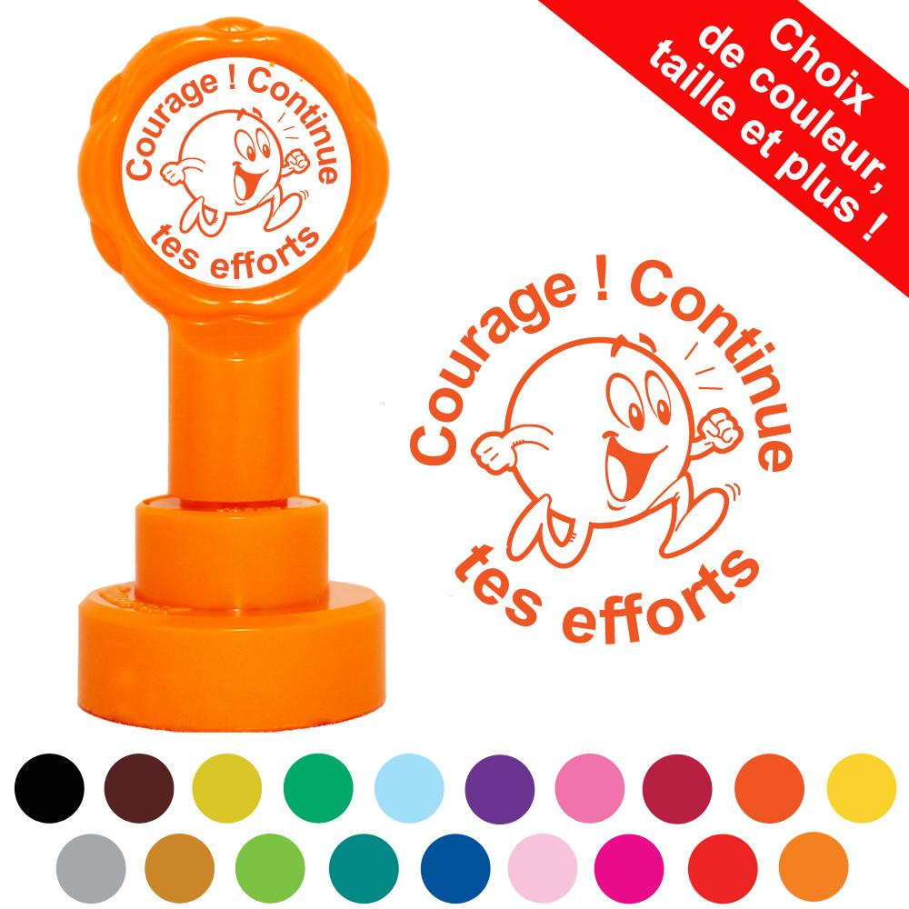 Tampons Enseignants | Courage ! Continue tes efforts Tampons Auto-Encreurs Personnalisés