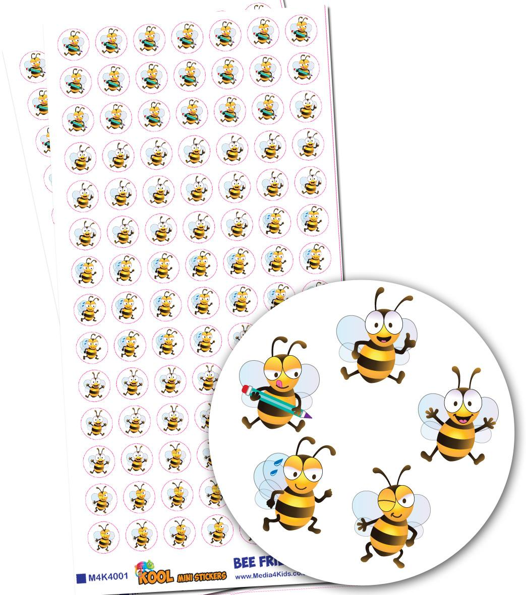 Stickers Petits | Amis Abeilles (Bee Friends) Autocollants Mini