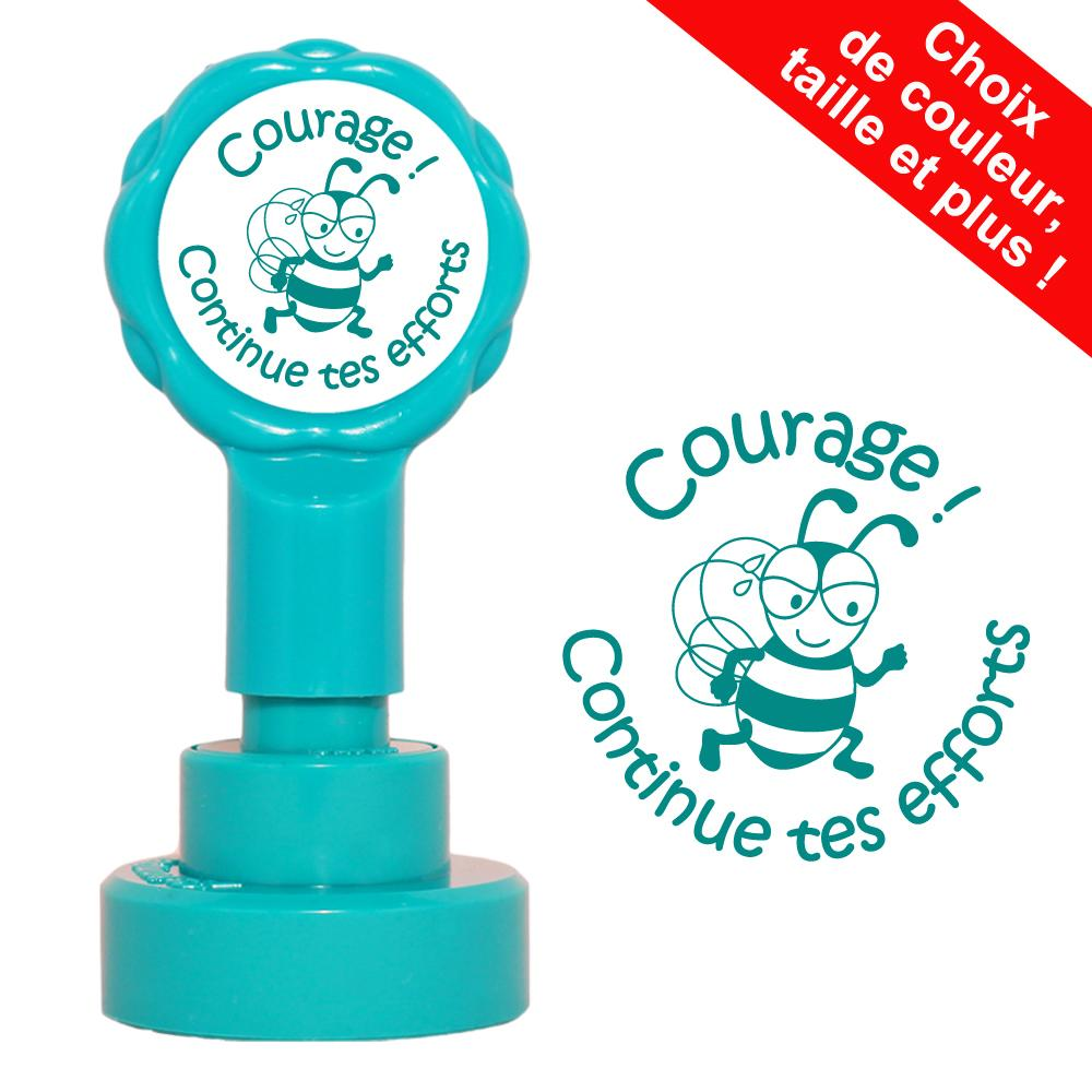 Tampons Ecole | Courage ! Continue tes efforts Tampons Auto-Encreurs - 22mm