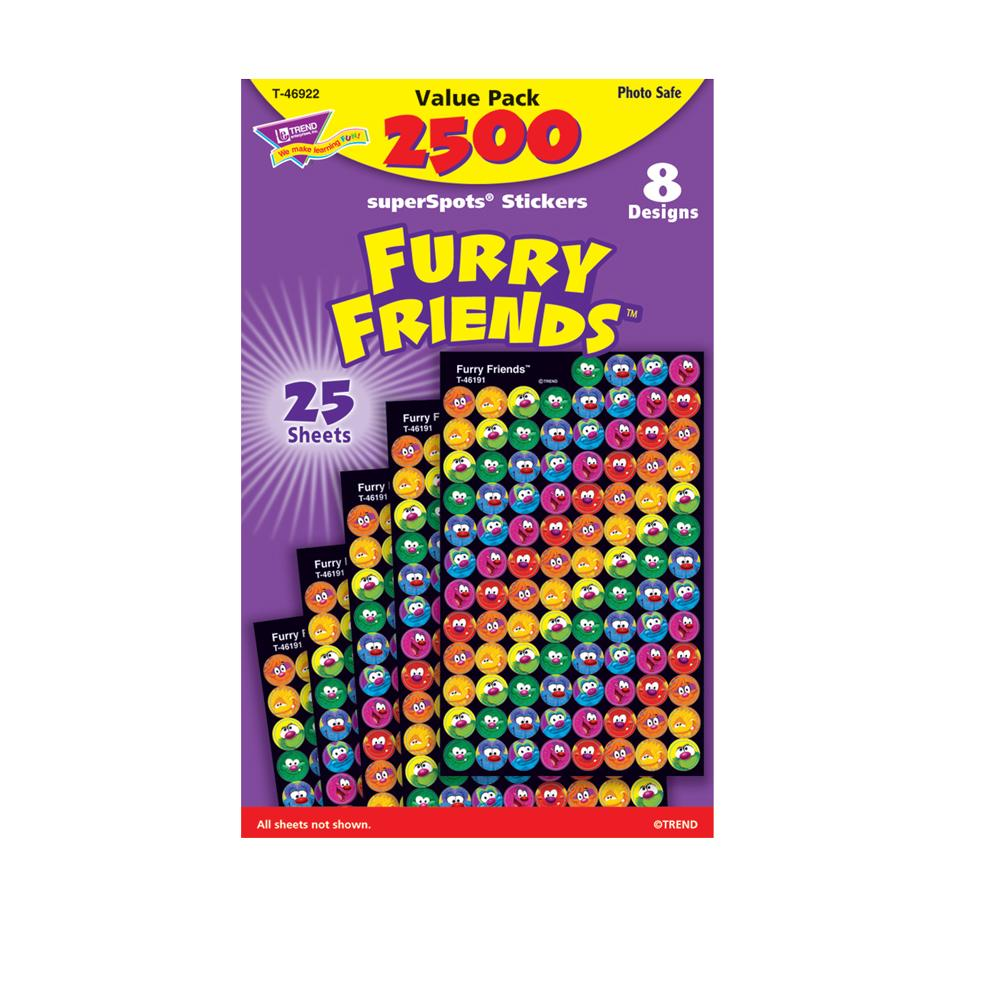 Autocollants Monsters | Furry Friends SuperSpots® Autocollants Briliant Mini x 2500 T46922