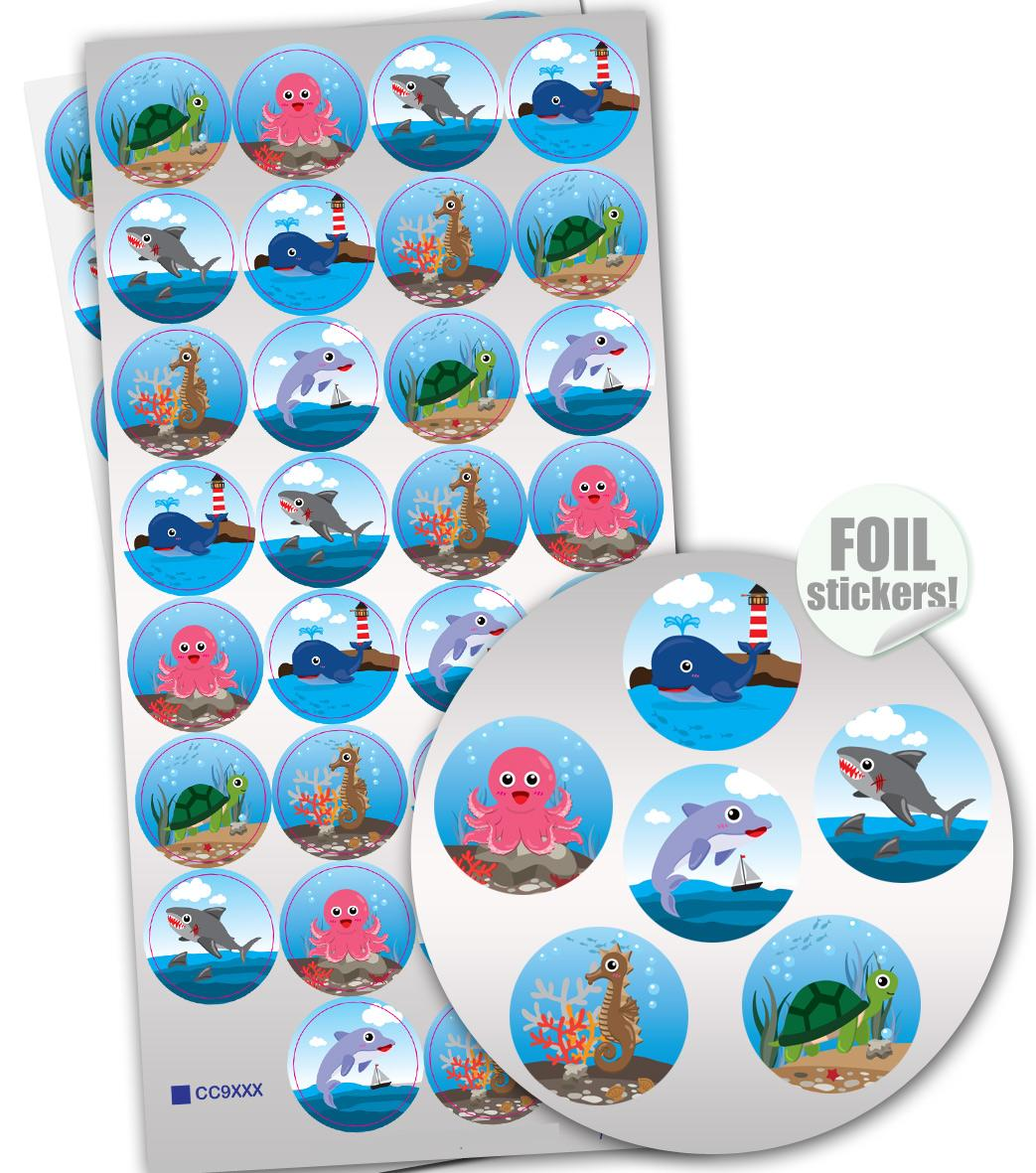 Stickers Brilliante | La Vie Marine (Sea Buddies) Autocollants Brilliante