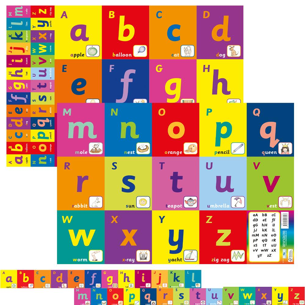 Posters Maternelle | Affiches Alphabet Banderoles - Poster