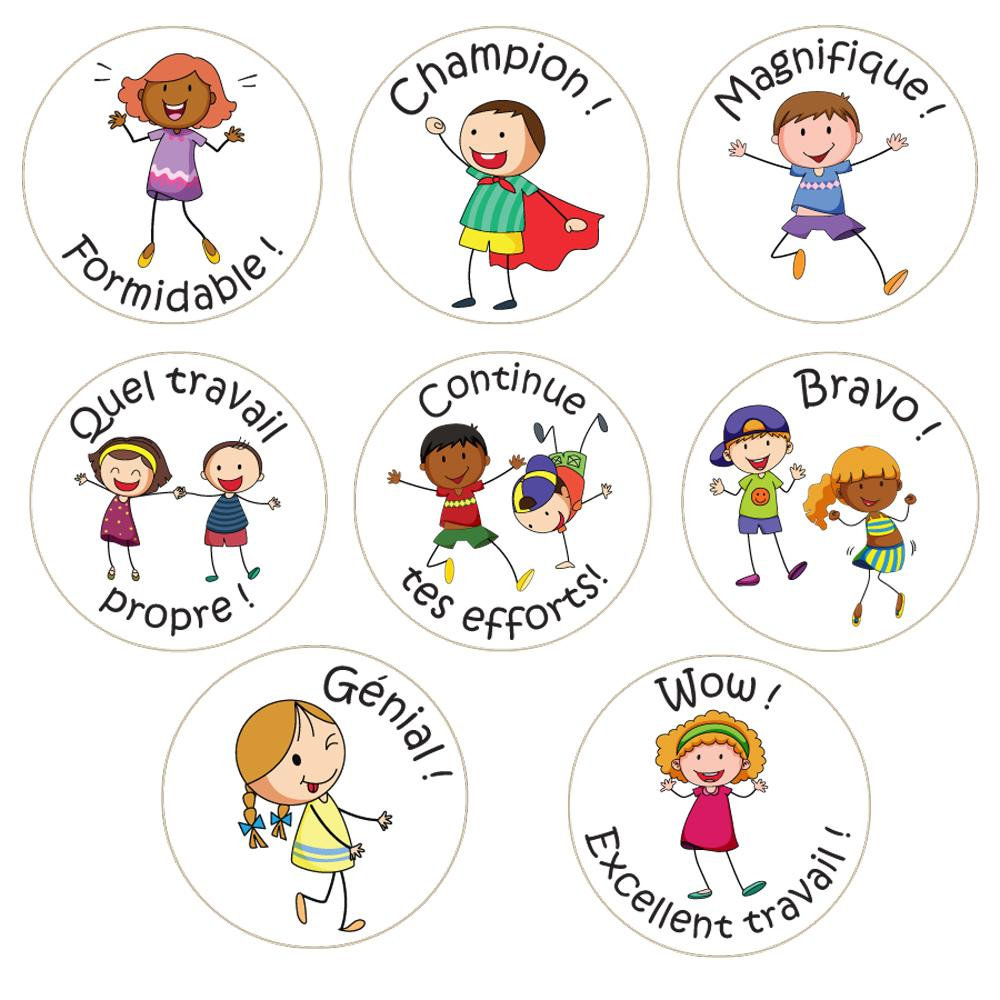 Stickers Enseignants | Amis de Classe (Classroom Friends) - Autocollants Récompense