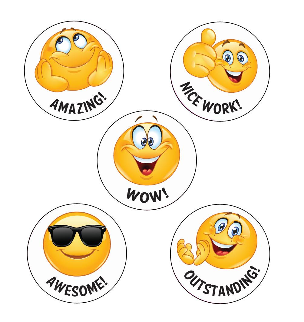 Stickers Enseignants | Wow! Emoji Autocollants de Récompense Anglais