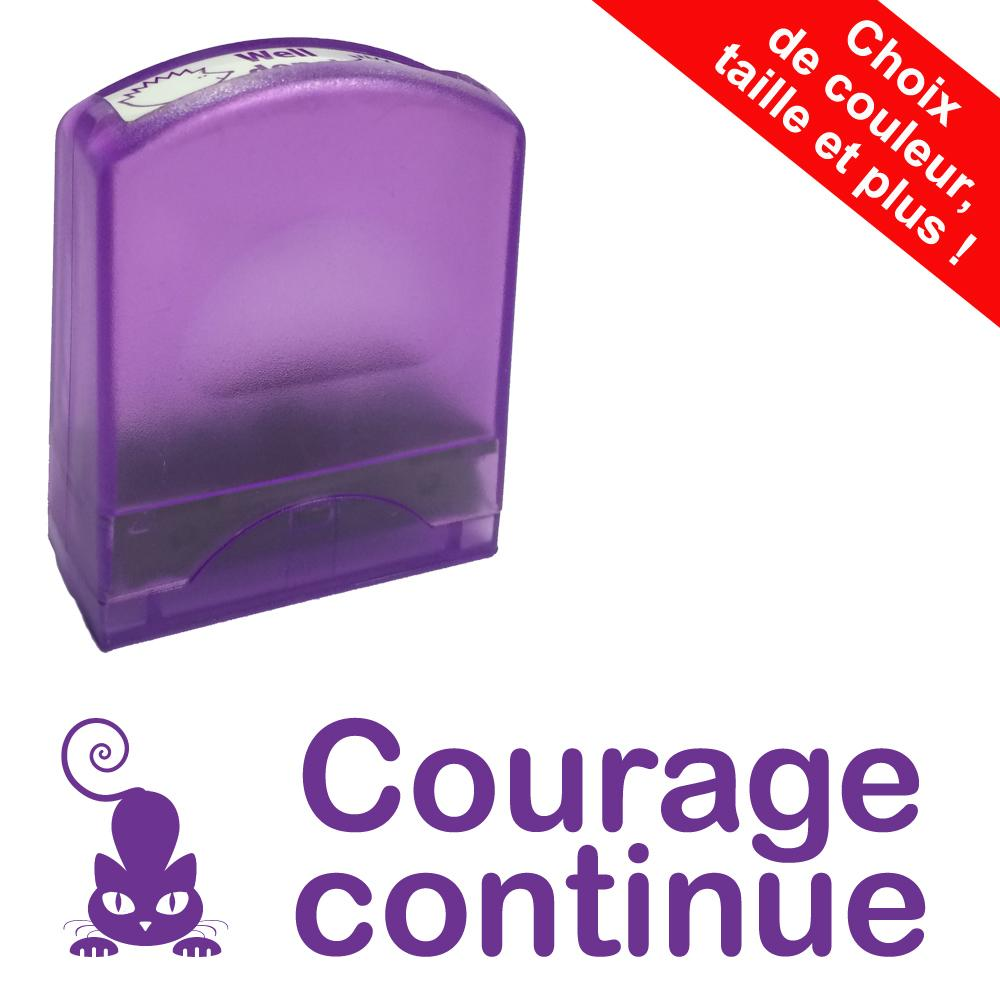 Tampons Enseignants | Courage continue Tampons Auto-Encreurs - 33x9mm