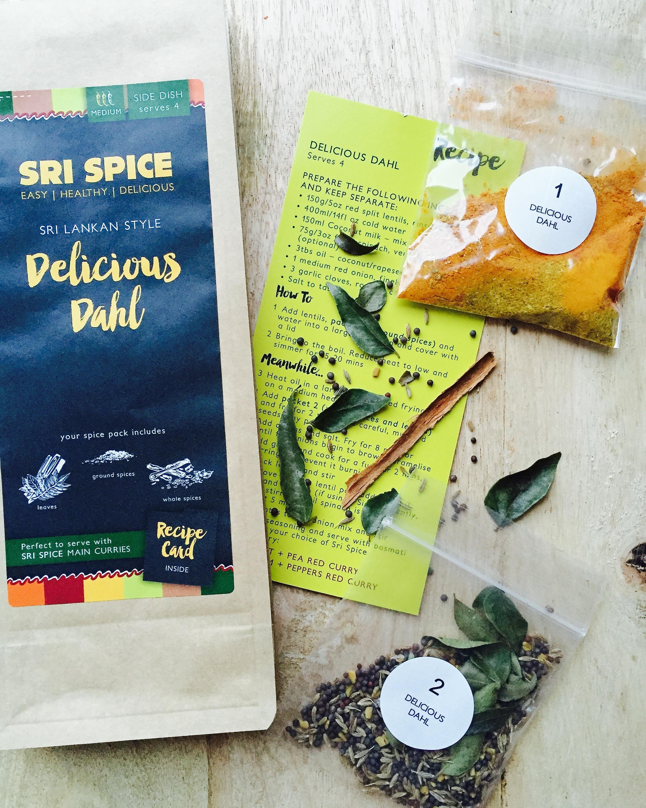 Delicious Dhal Spice kit and recipe card