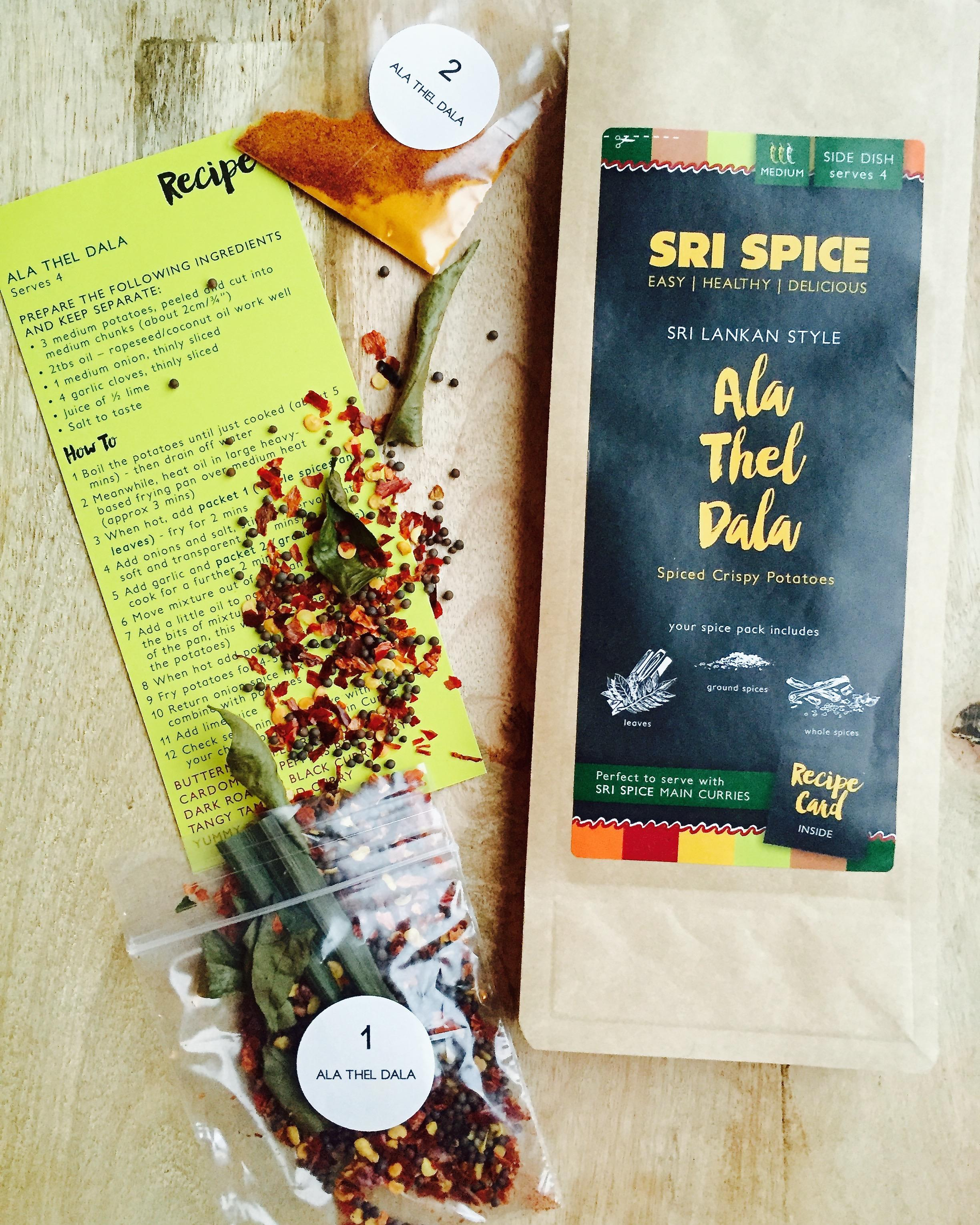 Ala Thel Dala Spice kit with recipe card