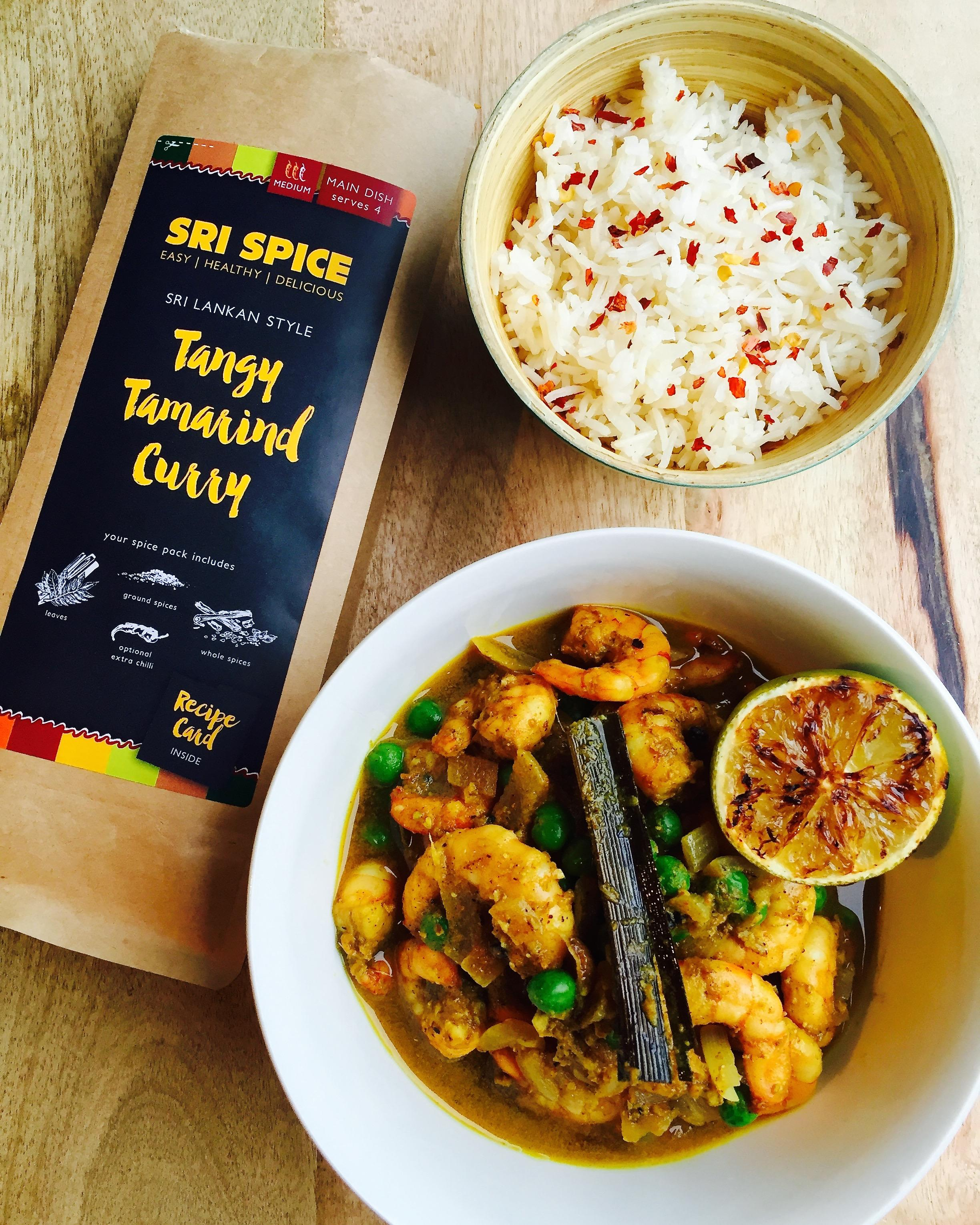 Tangy Tamarind curry with prawns