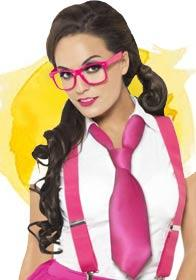 Wear it Pink Glam Geek kit by Smiffy 25645 available here at Karnival Costumes online party shop
