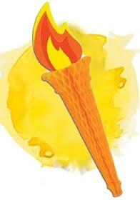 Tissue paper Olympic Torch by Beistle 55667 available here at Karnival Costumes online party shop