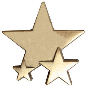 Triple Star Badge - PLAIN