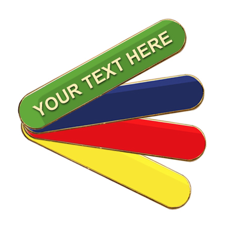 Coloured Bar Shaped Create your Own Badges