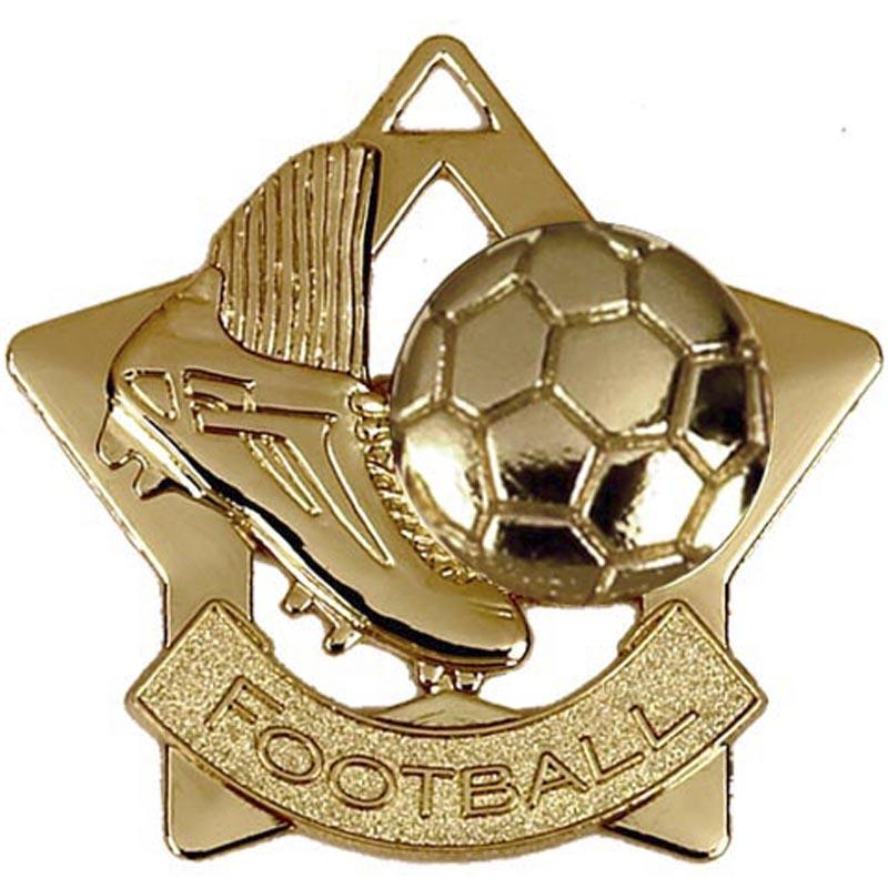 Gold Football Star Badge