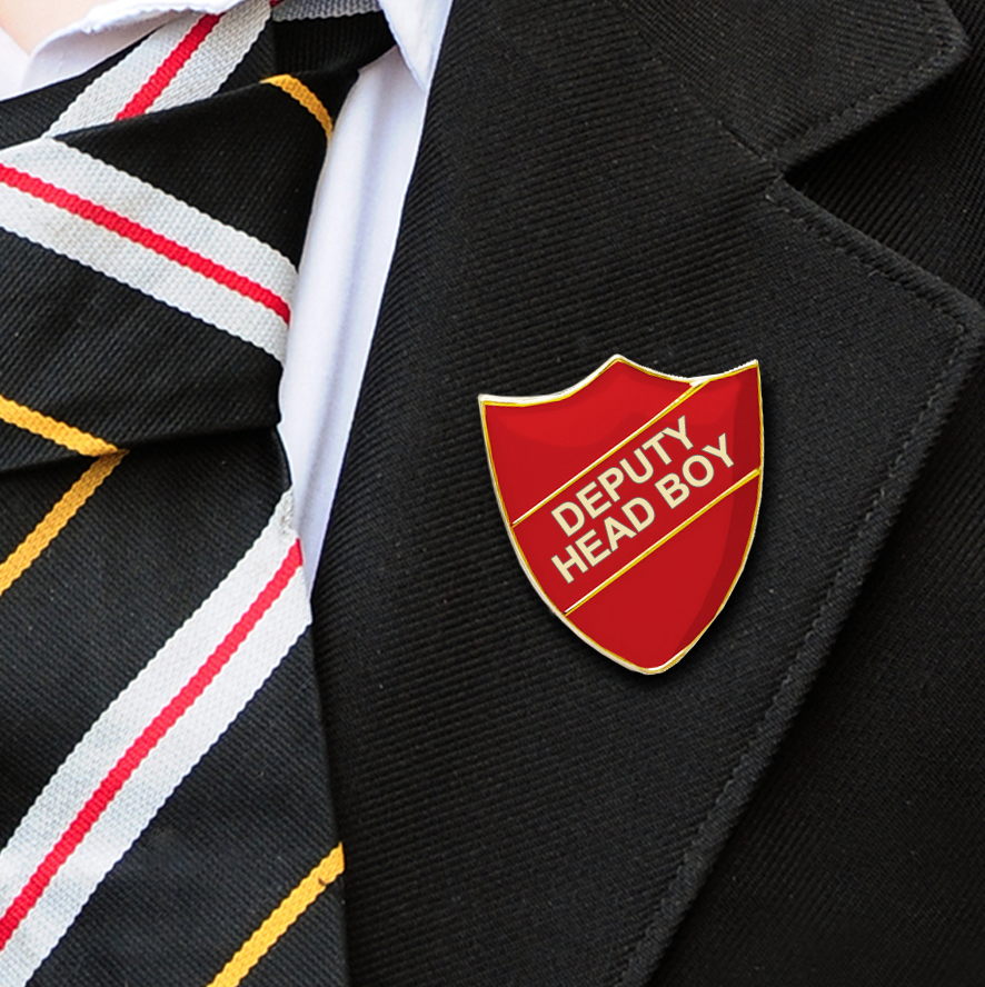 Deputy Head Boy School Badges red