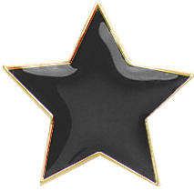 Star Badge Black