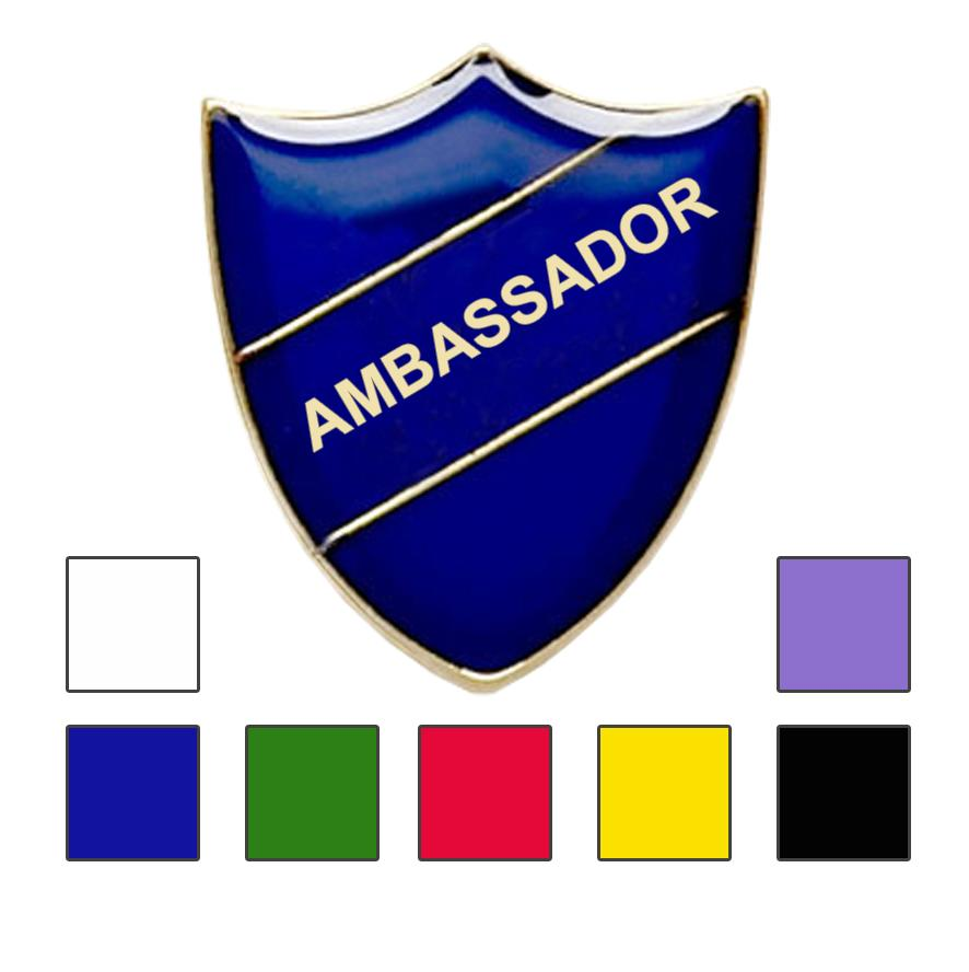 Coloured Ambassador Shield Badges