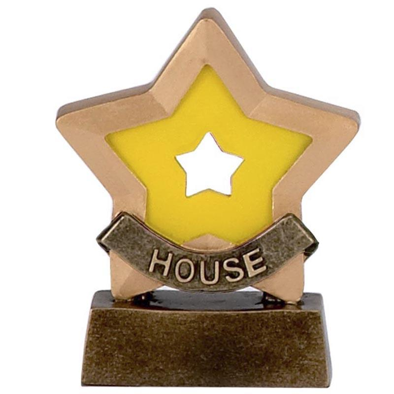 House (Yellow) Mini Star Trophy