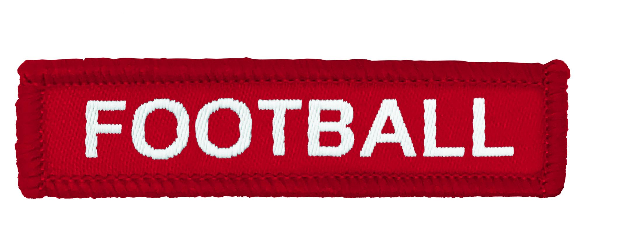 Red Woven Football Badge