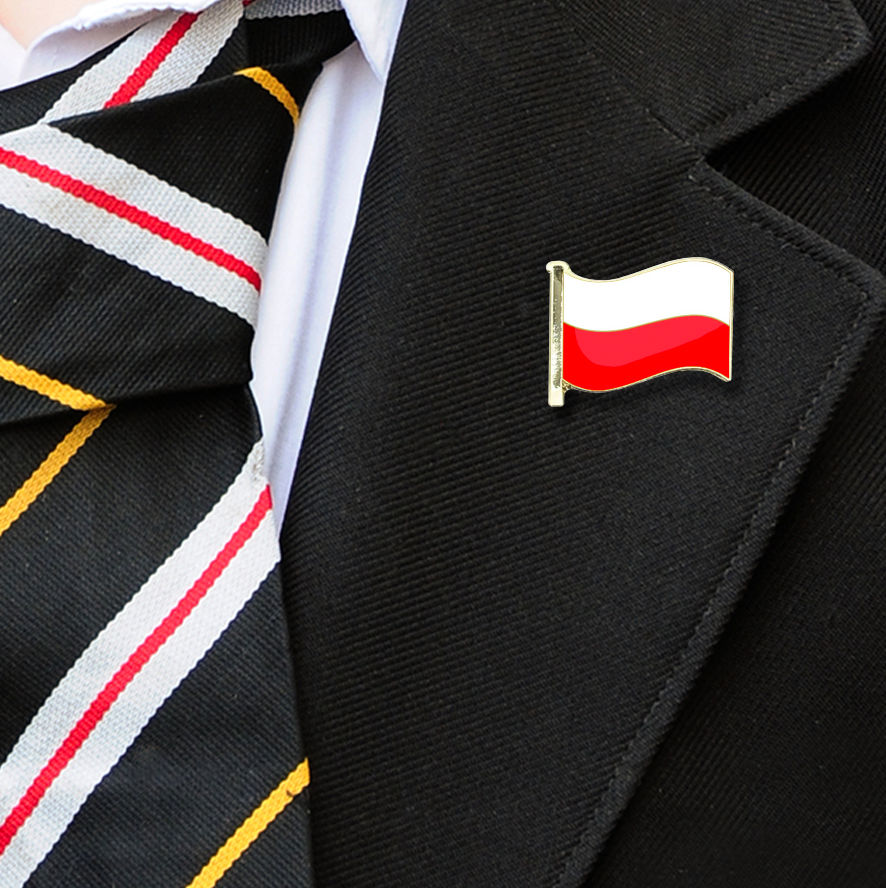 Poland Flag Badge on Lapelle