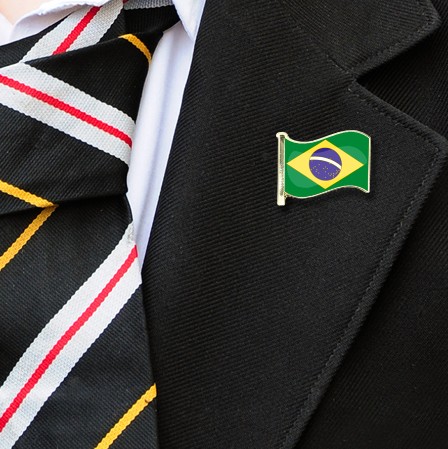Brazil Flag Badge on Lapelle