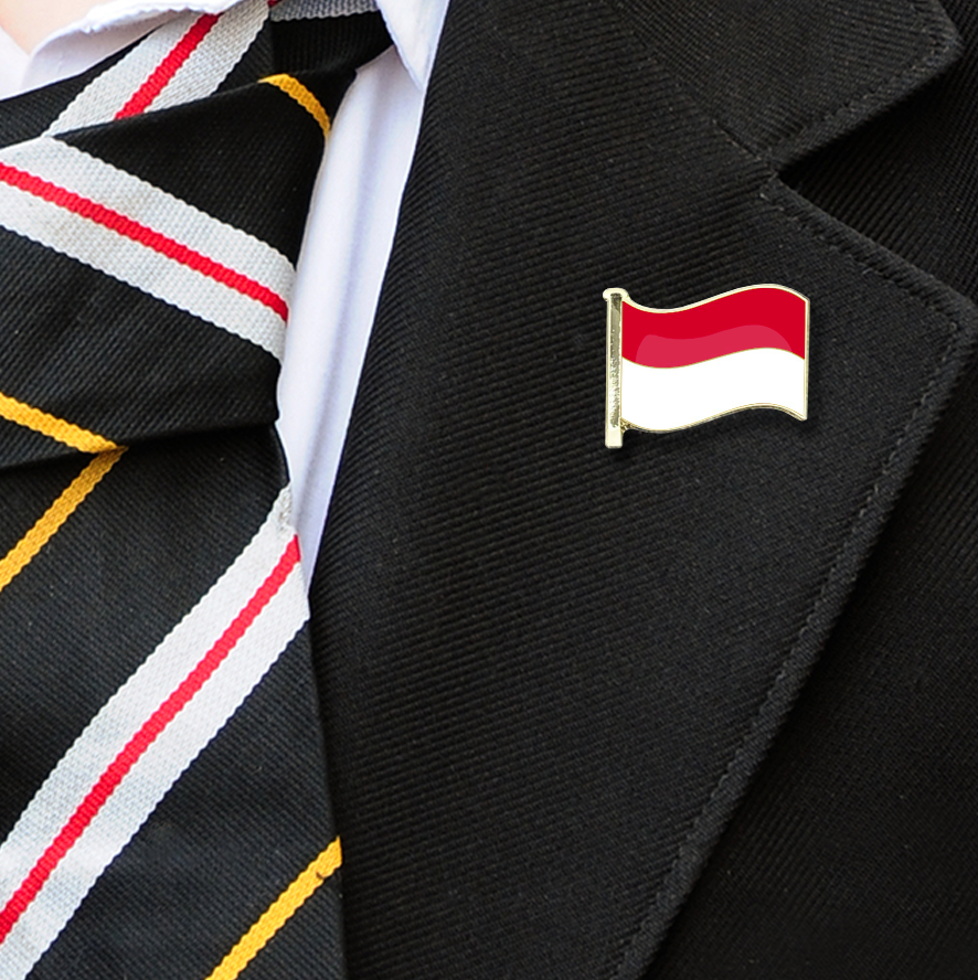 Indonesia Flag Badge on Lapelle