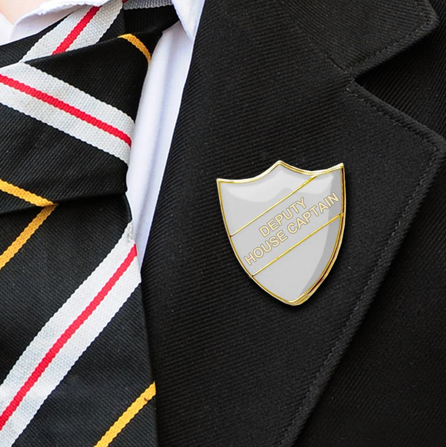 DEPUTY HOUSE CAPTAIN SCHOOL BADGES WHITE