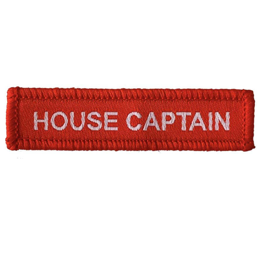 House Captain Woven Patches Red
