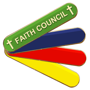 Coloured Bar Shaped Faith Council Badges