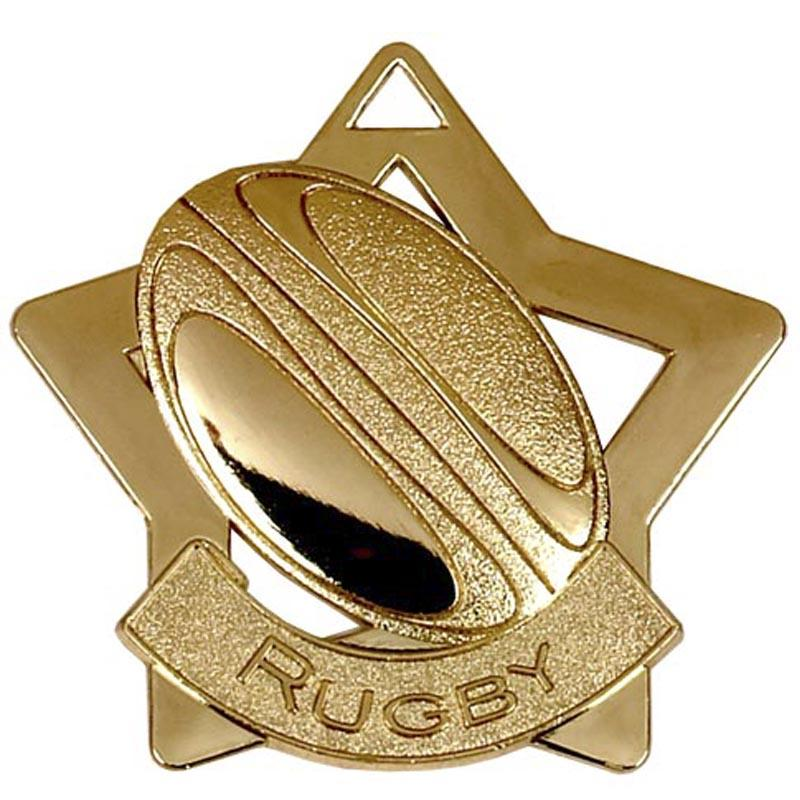 Gold Rugby Star Badge