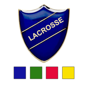 Lacrosse school badges shield