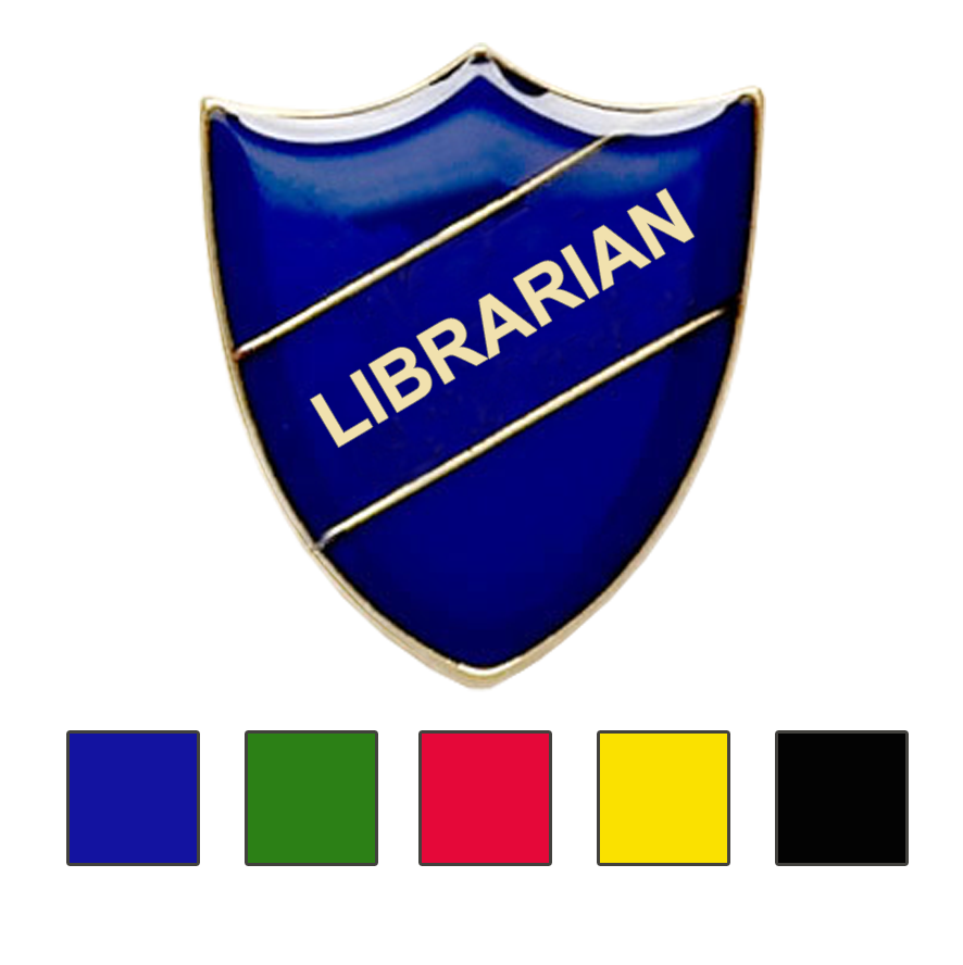 Librarian school badges shield
