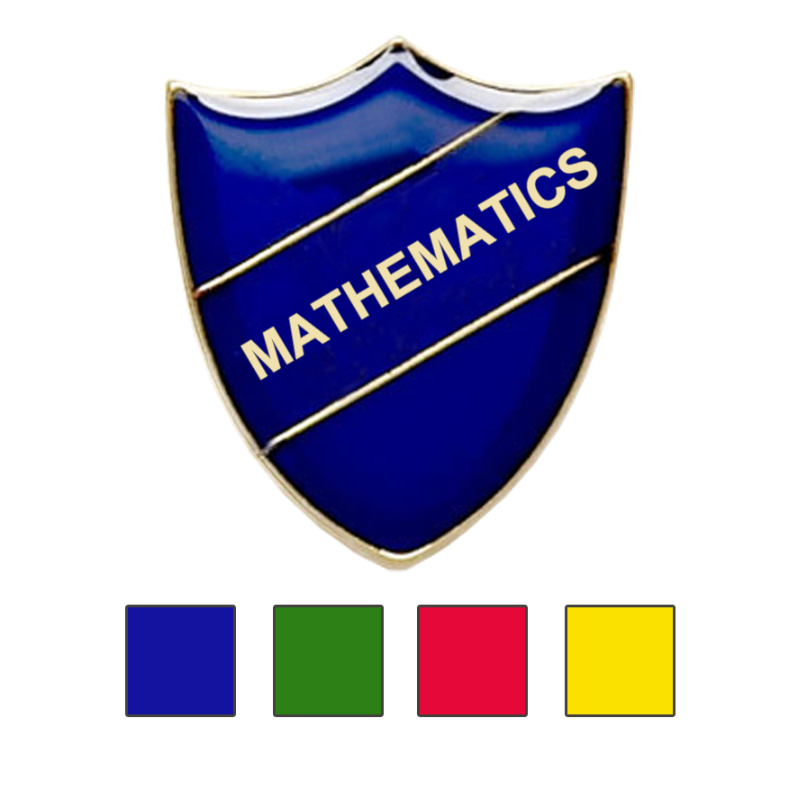 MATHEMATICS SCHOOL BADGES SHIELD