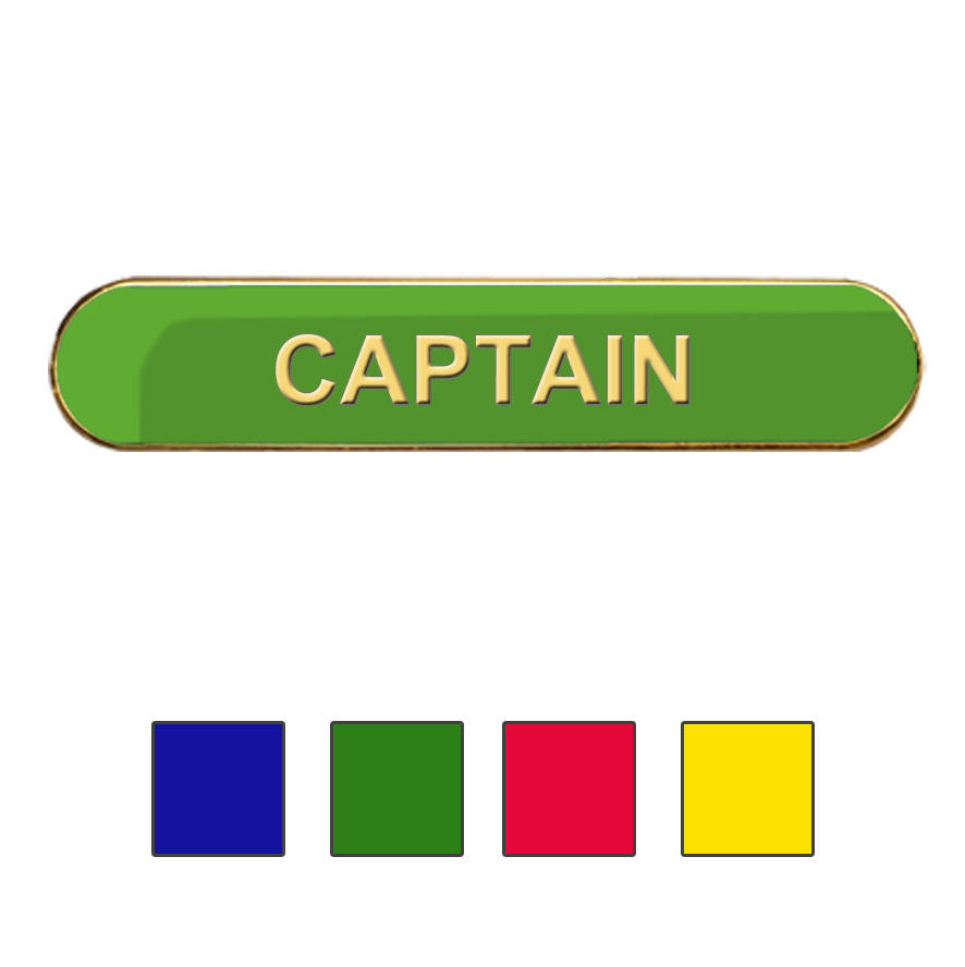 Coloured Bar Shaped Captain Badges