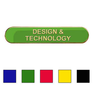 Coloured Bar Shaped Design & Technology Badges