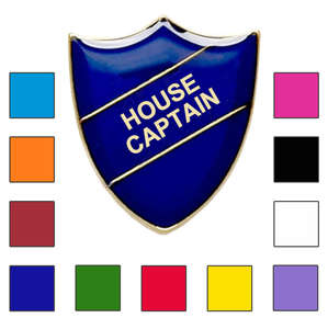 Coloured Shield Shaped House Captain Badges