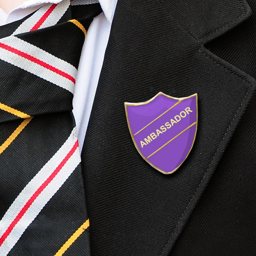 Purple Ambassador Shield Badge