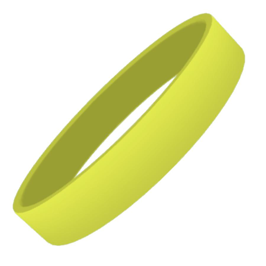 Yellow Plain Silicon Wristband
