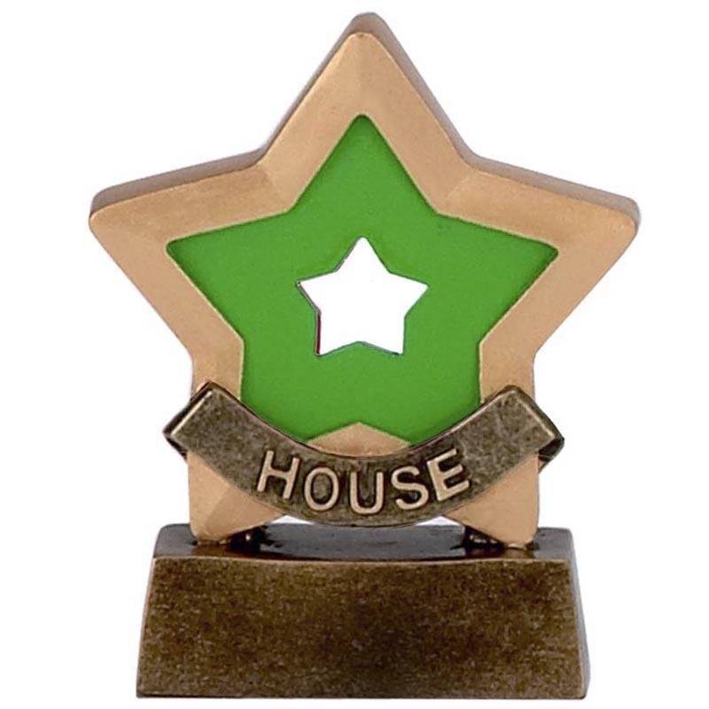 House (Green) Mini Star Trophy