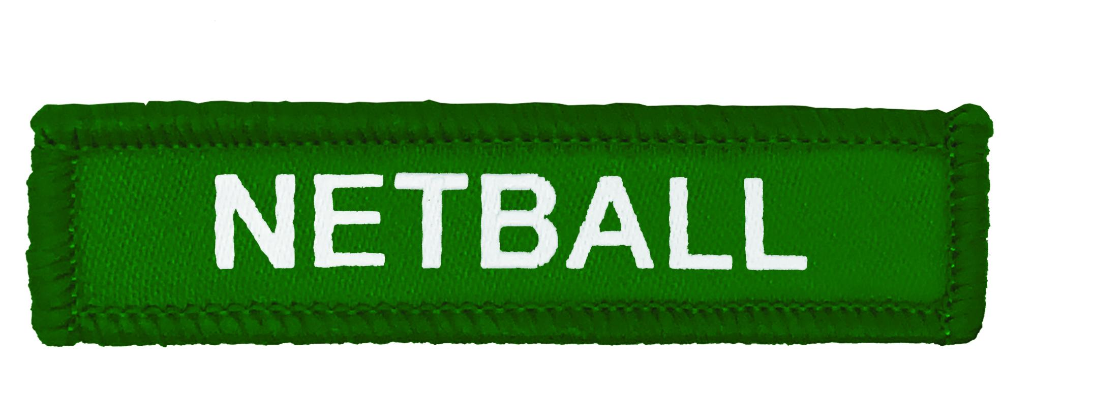 Green Woven Netball Badge