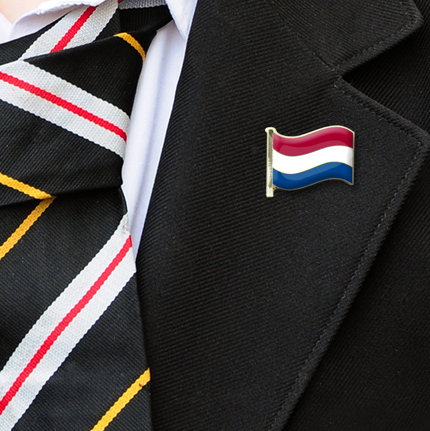 Netherlands Flag Badge on Lapelle