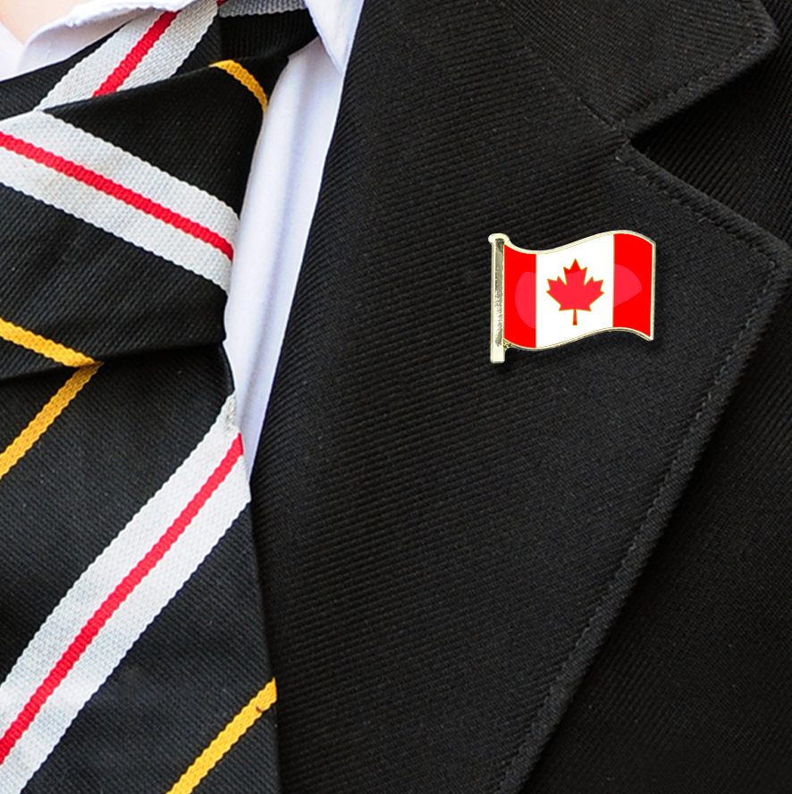 Canada Flag Badge on Lapelle