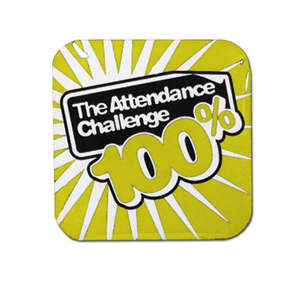 100% Yellow Attendance Challenge Badge
