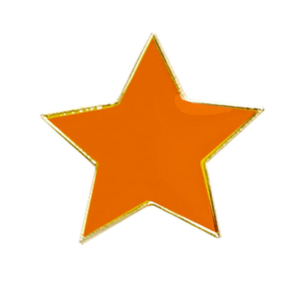 Star Badge Orange