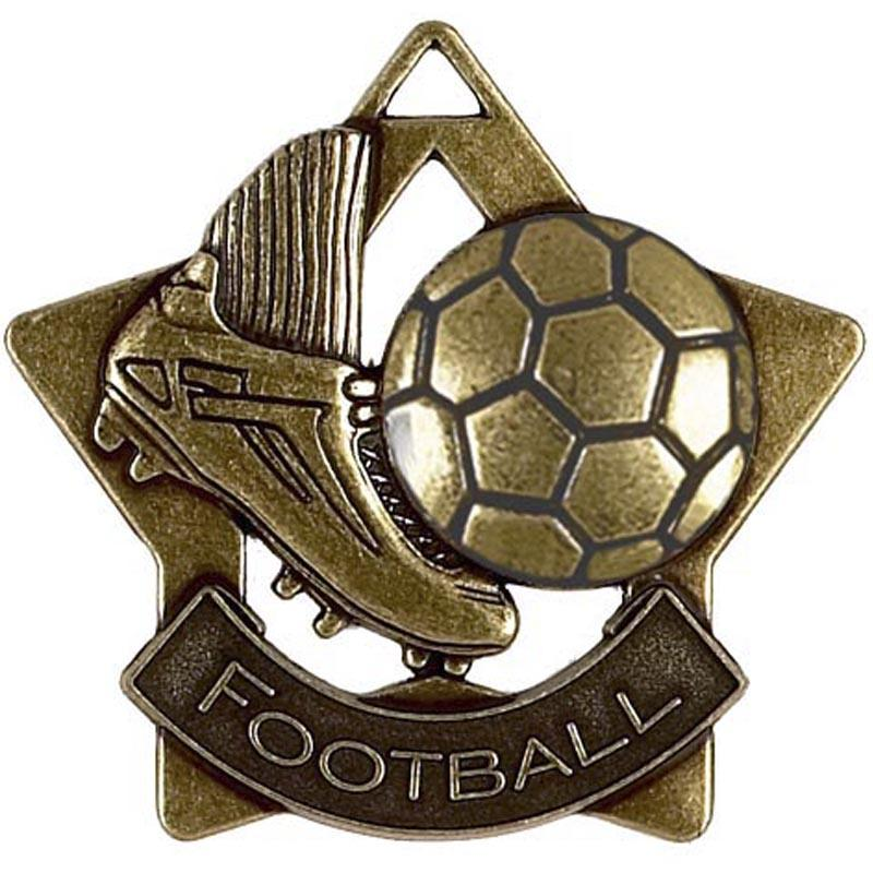 Bronze Football Star Badge