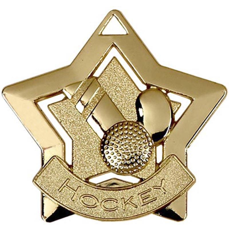 Gold Hockey Star Badge